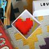 coeur rouge en lego