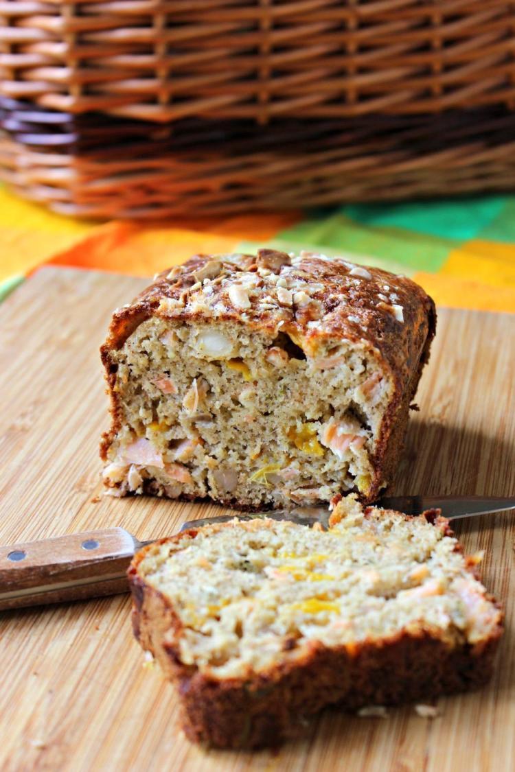 cake pour Guyader - poivron et saumons
