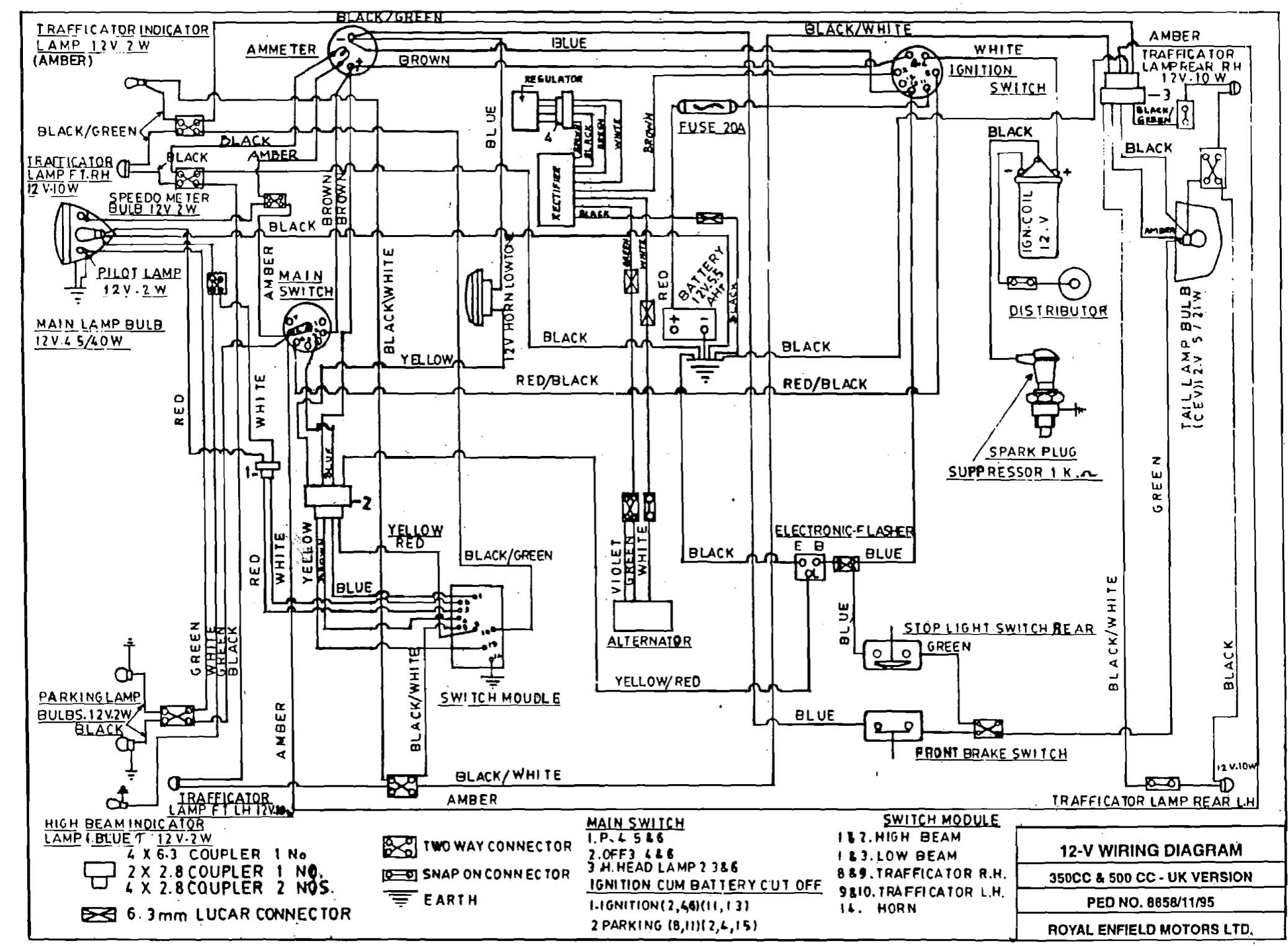 royal enfield thunderbird 350 wiring diagram   44 wiring diagram images