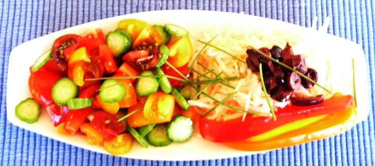 Entree salade de tomate