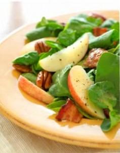 salade epinard et pomme