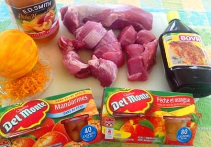 Ingredients Porc aux fruits
