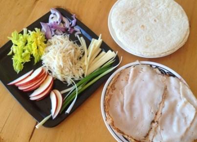 Ingredients Pita dinde celeri rave pomme