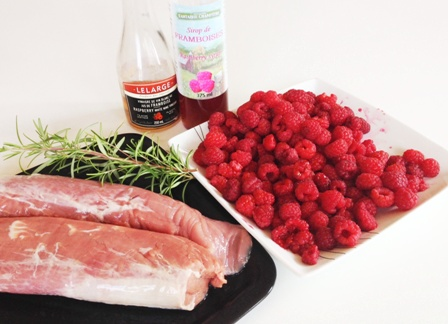 porc aux framboises - ingredients