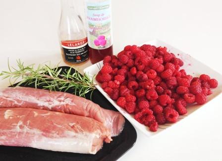 porc aux framboises - ingredients