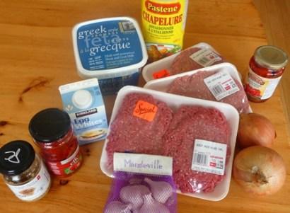 ingredients pain de viande mediterraneen