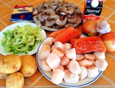 ingredient - chaudree de la mer tp