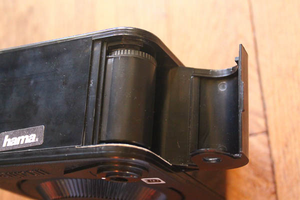 La cartouche dans le compartiment de chargement