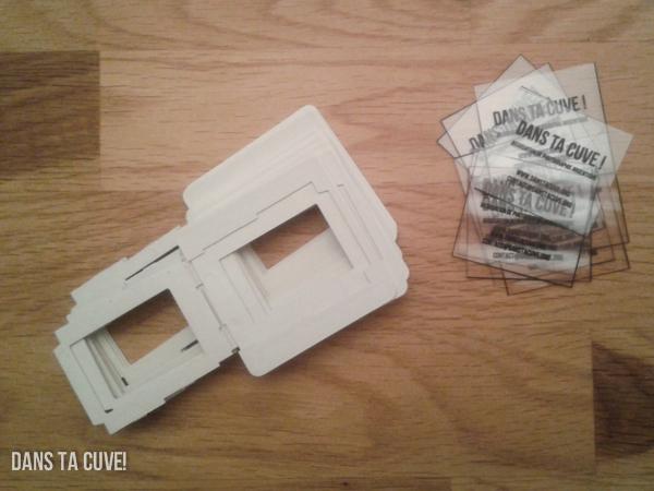 DIY : Cartes de visite diapo