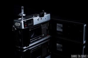 Ouverture du dos du Canonet QL17 GIII