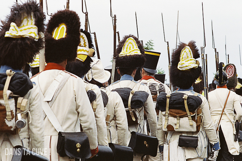 Waterloo, bicentenaire, fin de journée (20h), Canon A1 135mm F/2.5