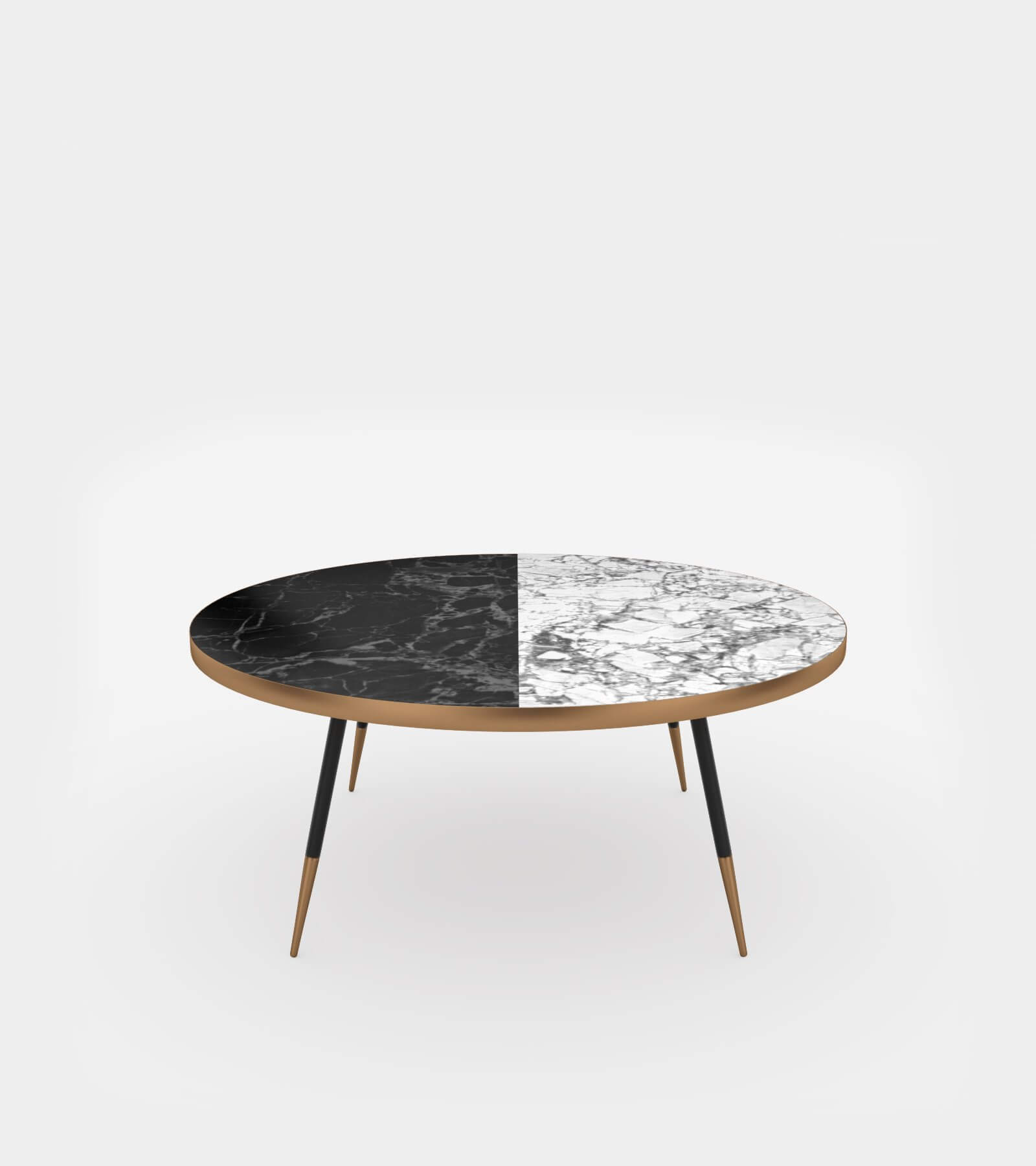 Round Coffee Table With Marble Top 3d Model