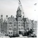 Removing the tower in 1970