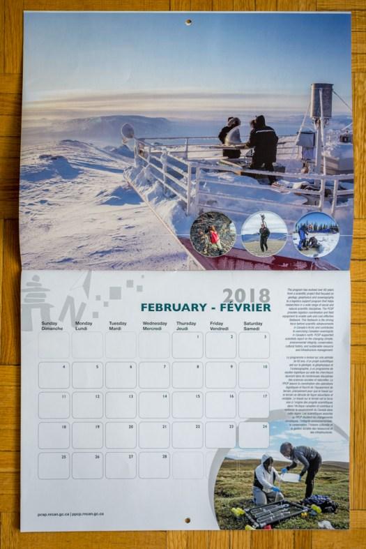 2018 Calendar - Polar Continental Shelf Program (February image by Dan Weaver)