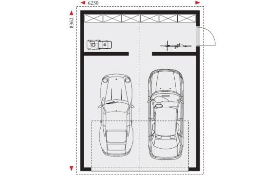 Top Doppelgarage mit Satteldach und Abstellraum DG-SGA | Danwood Bayreuth KG58