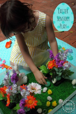 Easter sensory play for toddlers and preschoolers