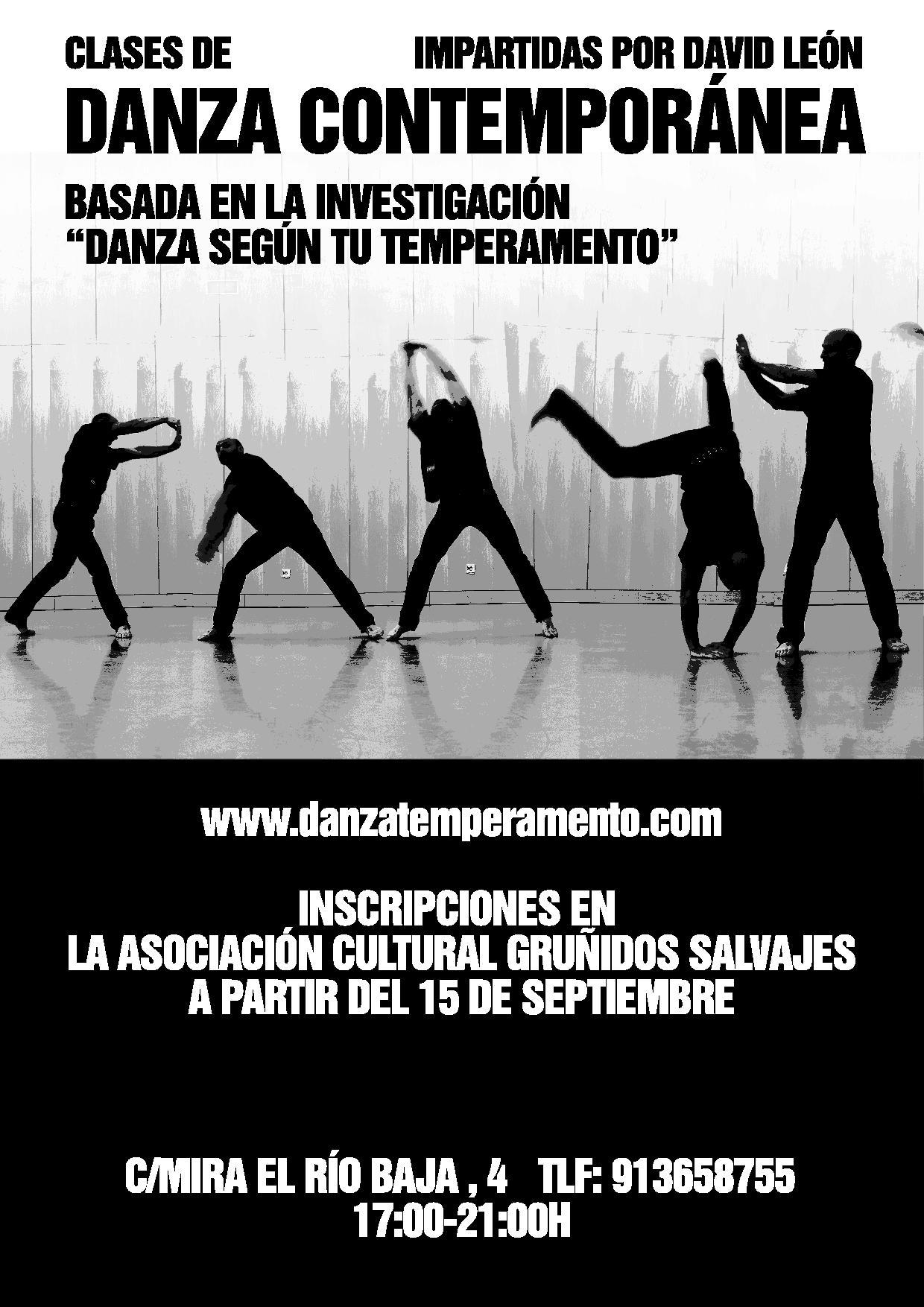 Iniciamos el WORKSHOP regular de Danza-Temperamento en Gruñidos Salvajes