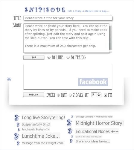 Snipisode - Facebook Storytelling Application