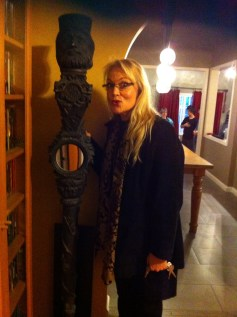 """At Paul Salamoff's home - With a prop from """"Doctor Who"""" Cloister Room"""