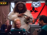 """""""Star Trek: DS9"""" - """"Melora"""" and """"Dr. Bashir"""" on a date."""