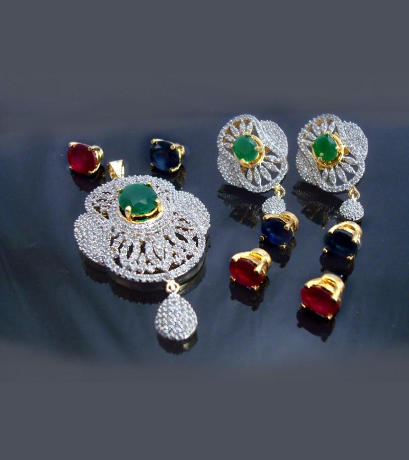 Daphne Changeable Stone Pendant Earrings For Women