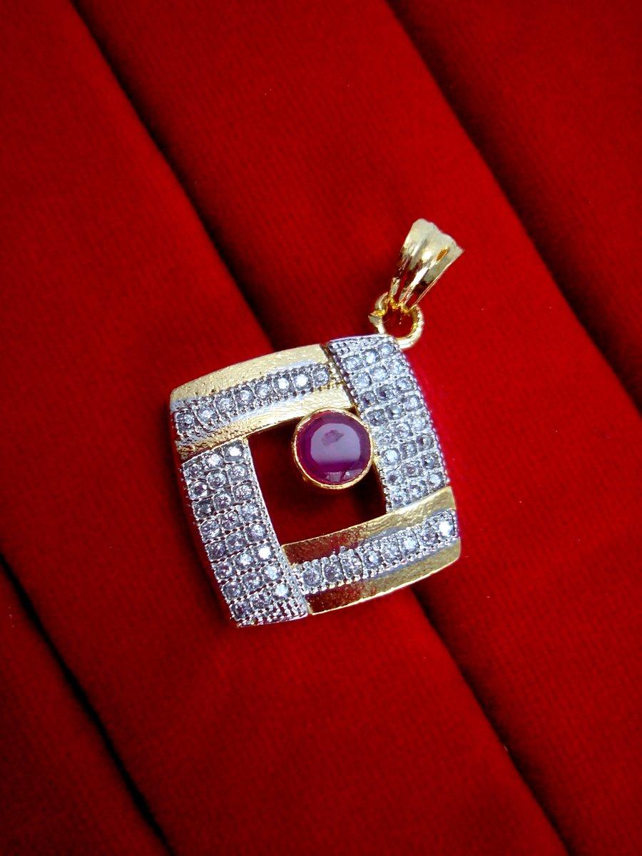 Ad26 daphne pink zircon studded edge pendant earrings daphne pink zircon studded edge pendant earrings for women lowest price pendant aloadofball Images