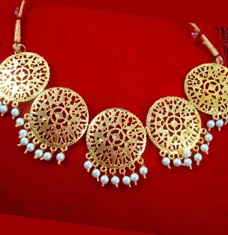 fe05af5a2e612 NA64 Daphne patiala Golden Traditional Round Necklace Set For Woman