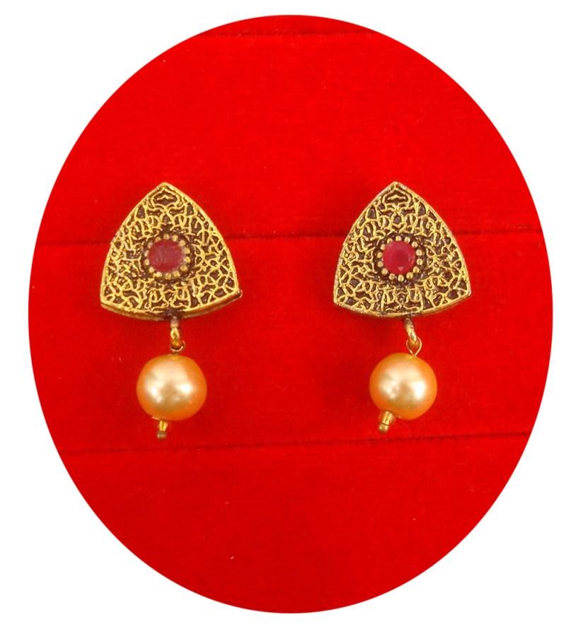 Designer Earring With Golden Hanging Balls Christmas Gift For Her Fe73