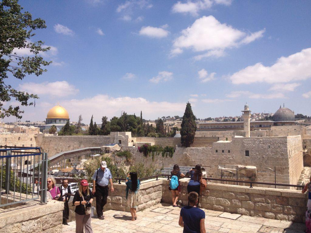 Bild von der Al-Aqsa Mosche und dem Felsendom in Jerusalem