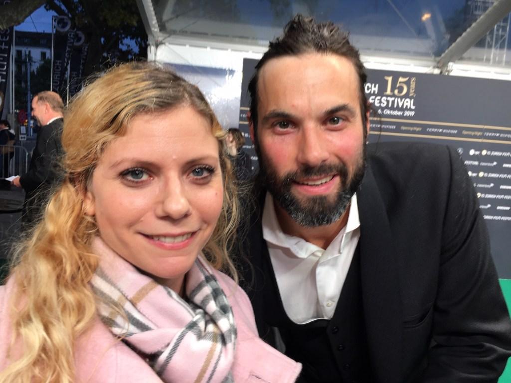 Max Simonischek und ich am 15. Zurich Film Festival