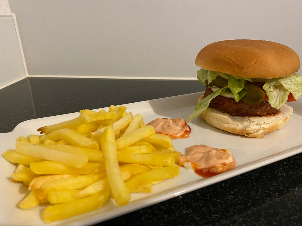 Bild von meinem Burger von Beyond Burger