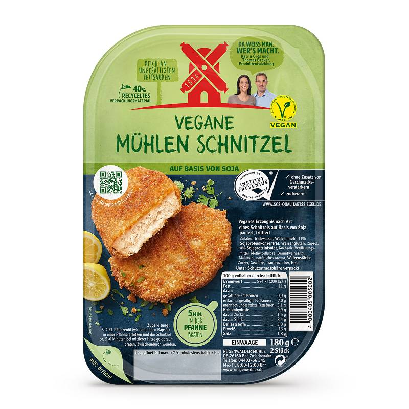 Bild des veganen Schnitzels
