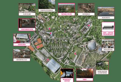 Bild des Übersichtsplans Bauprojekte Entwicklungsplan 2050