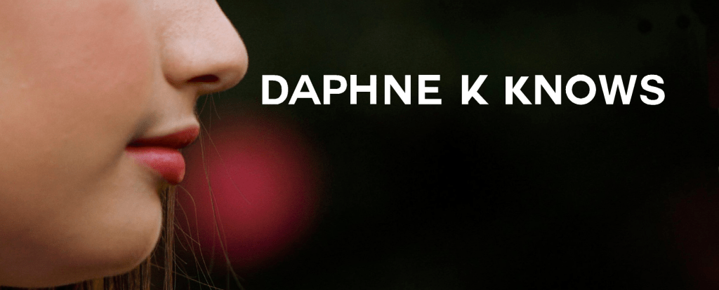 Daphne K Knows profile of lips and nose