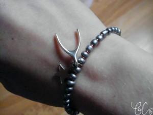 Handmade Wishbone Bracelet