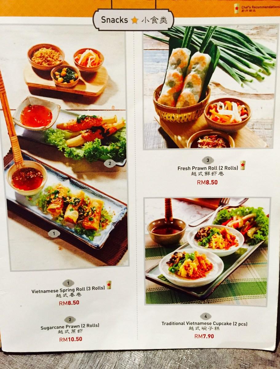 Pho Vietz menu 2