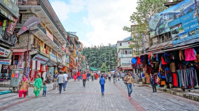 Mall Road Manali