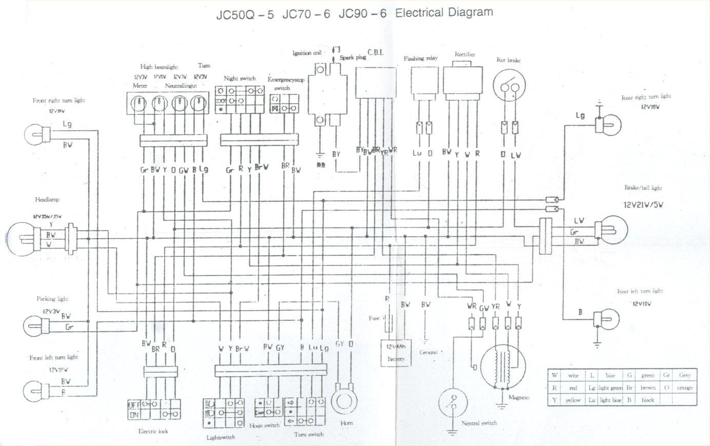 motorcycle wiring diagrams honda mini trail