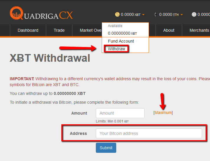 XBT-withdrawal-quadrigacx