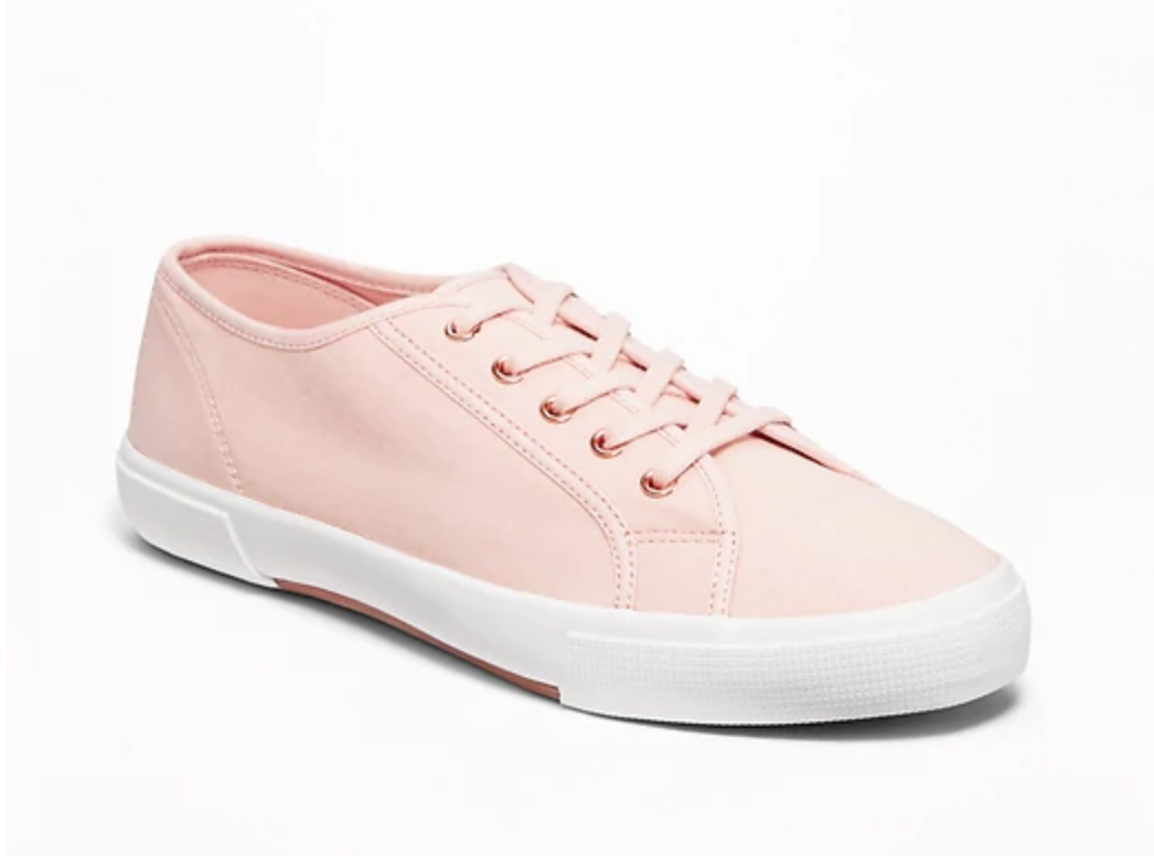 blush pink sneakers from Old Navy super cheap and cute