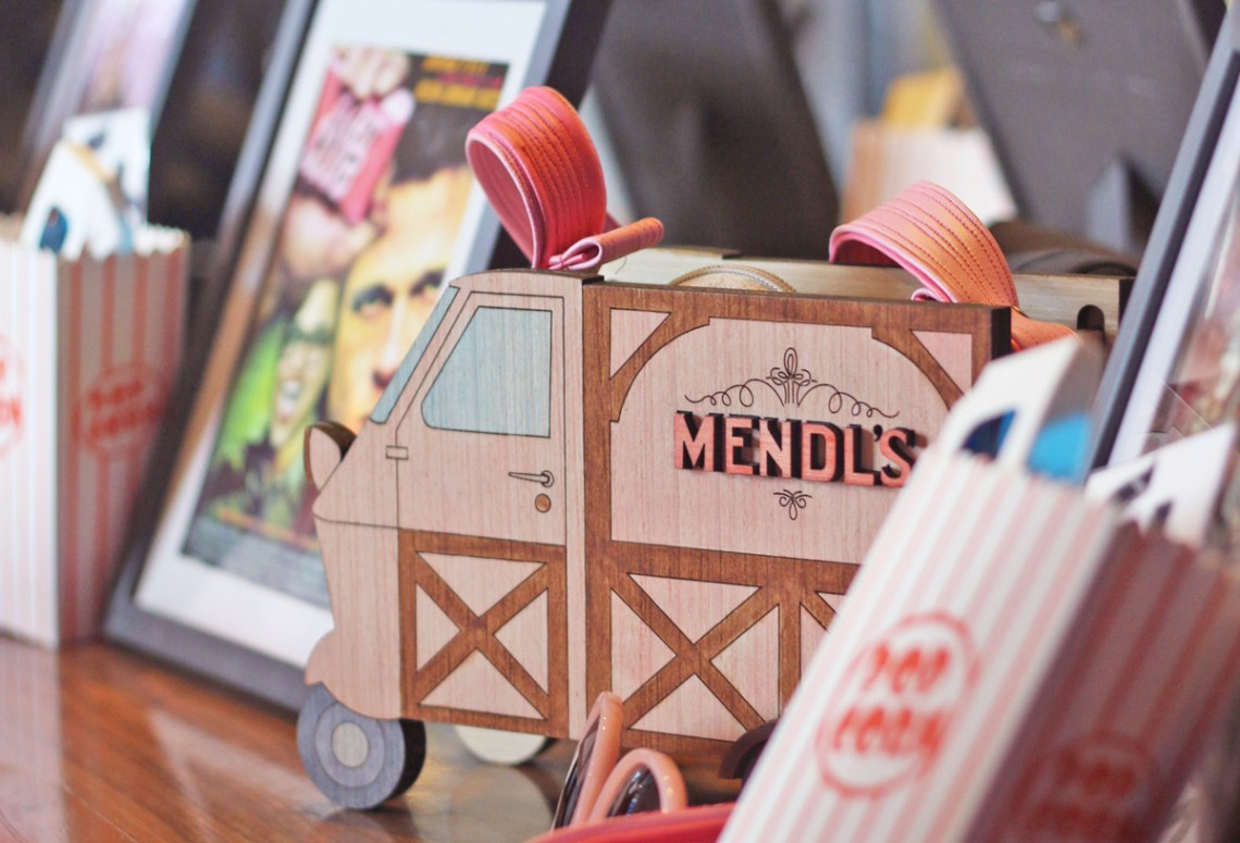 Wes Anderson Inspired Mendls Truck Custom Bag