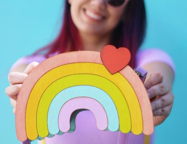 Cute Handmade Rainbow Purse by Dapper Animals