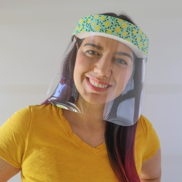 Lemons Protective Full Length Plastic Face Shield in Mint Green