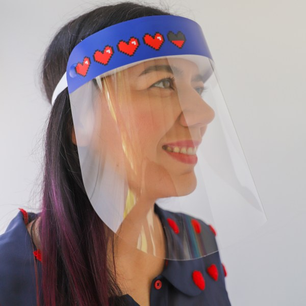 Video Game Hearts Colorful Plastic Protective Face Shield. In stock and ships from USA Gamer