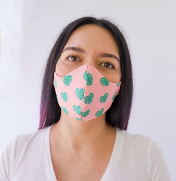 Monstera Reversible, double Sided Cotton Washable Adult Face Mask,Breathable Reversible Mask,Handmade in USA Face Mask