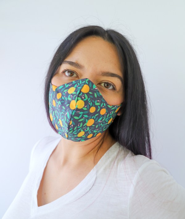 Oranges Reversible, double Sided Cotton Washable Adult Face Mask,Breathable Reversible Mask,Handmade in USA Face Mask