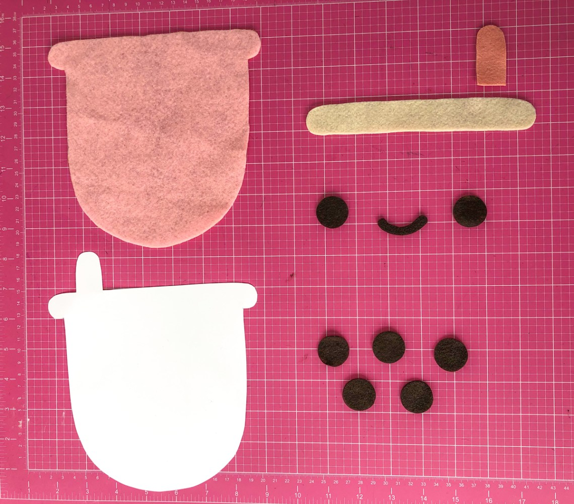 Felt Bubble Tea Banner Tutorial: Cut Felt Pattern Shapes