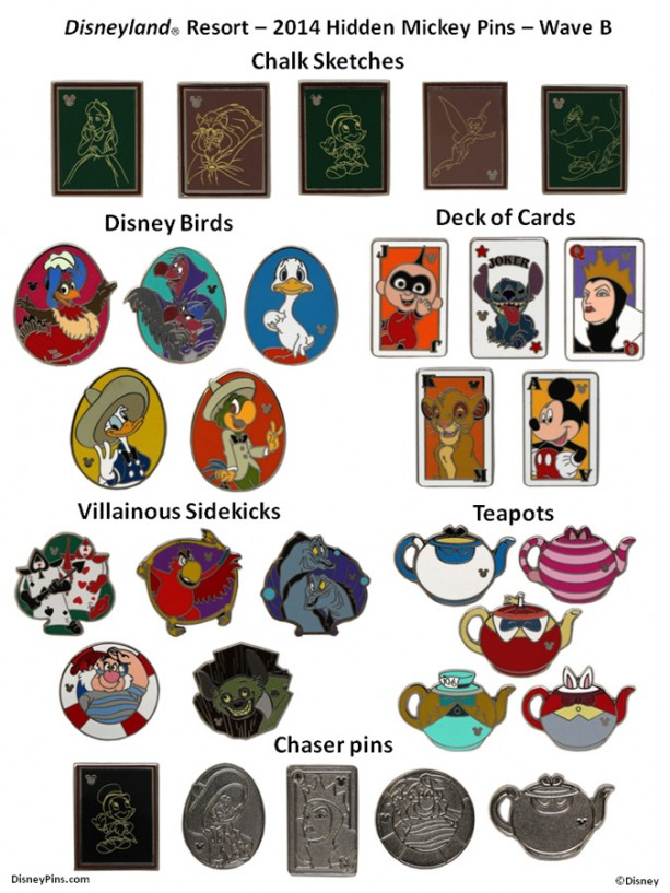 New Hidden Mickey Pins to Arrive at Disney Parks - DAPs Magic
