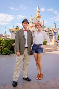 Mr. DAPs and Hayley the Hatter at Disneyland - Bow Ties by Hayley