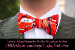 Lightning McQueen Freestyle Bow Tie - Bow Ties by Hayley the Hatter